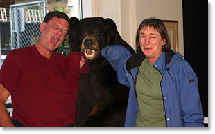 Photo of Billy, Bear and Kathy