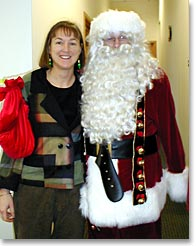 photo: Kathy and Santa